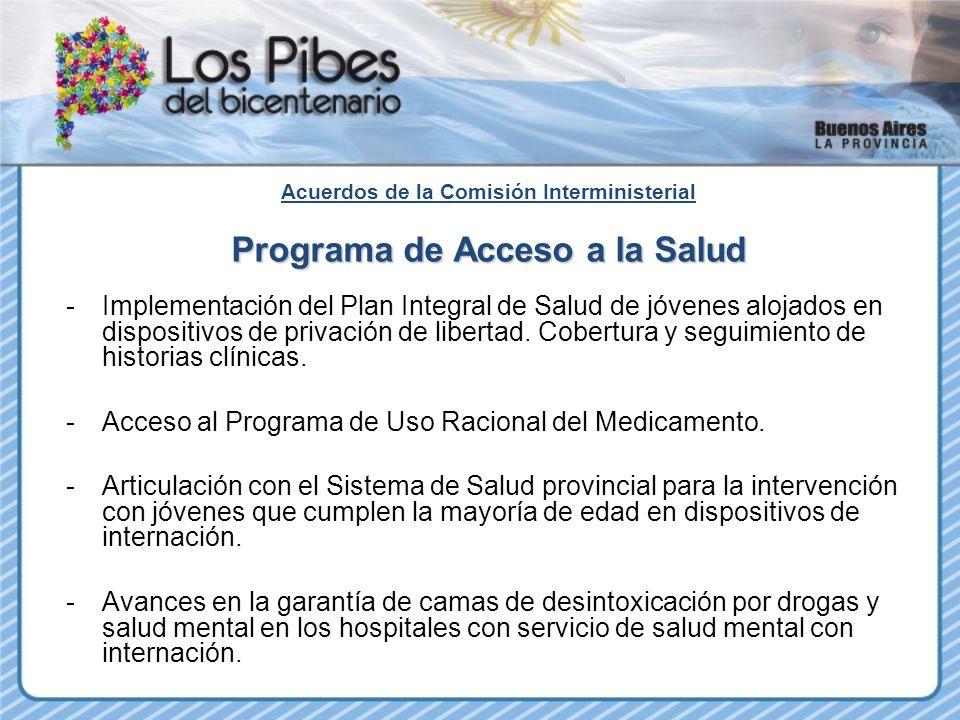 Acuerdos de la Comisión Interministerial Programa de Acceso a la Salud