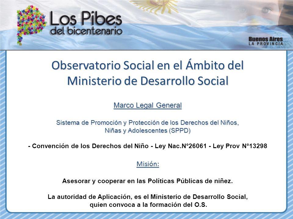Observatorio Social en el Ámbito del Ministerio de Desarrollo Social