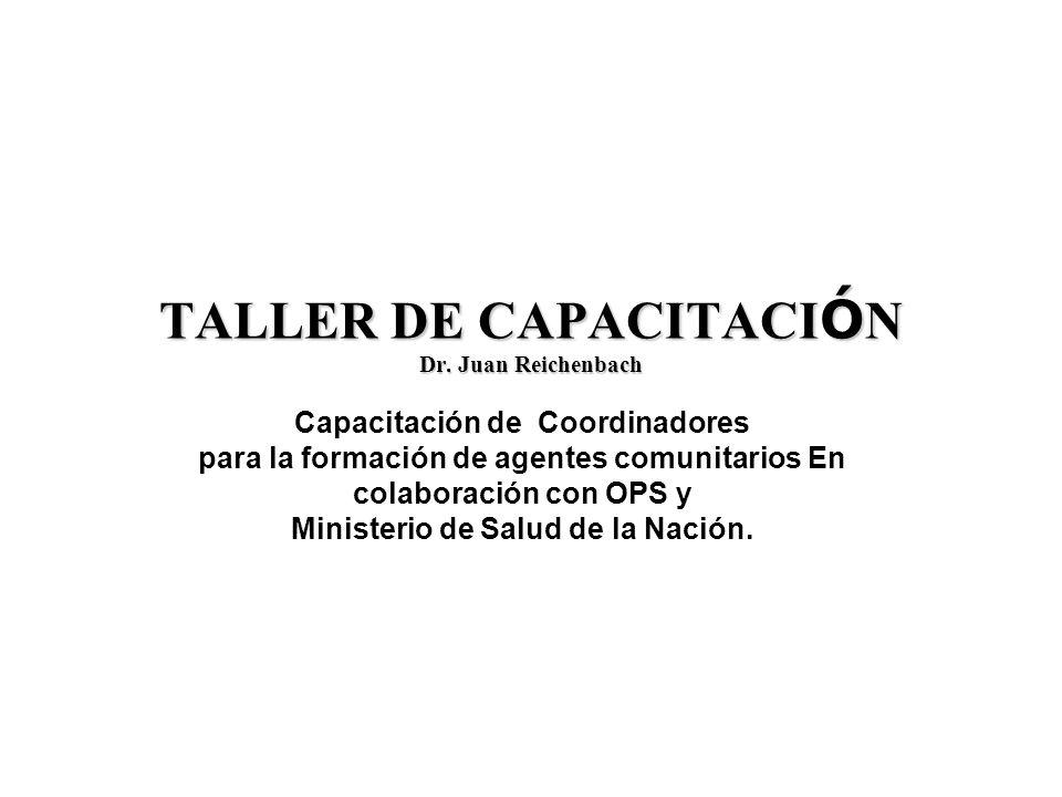 TALLER DE CAPACITACIÓN Dr. Juan Reichenbach