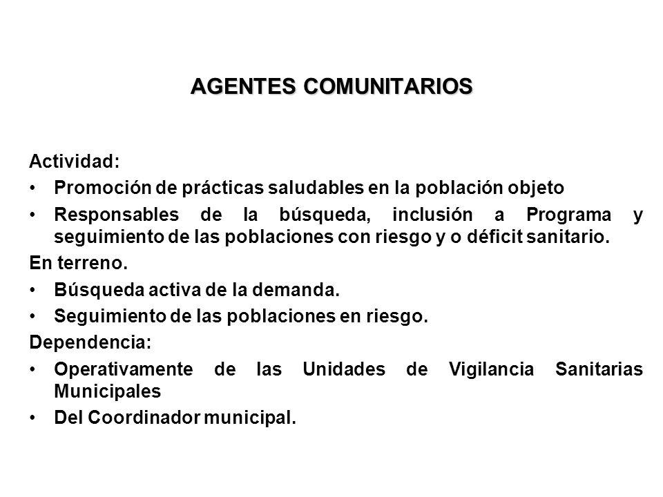 AGENTES COMUNITARIOS Actividad: