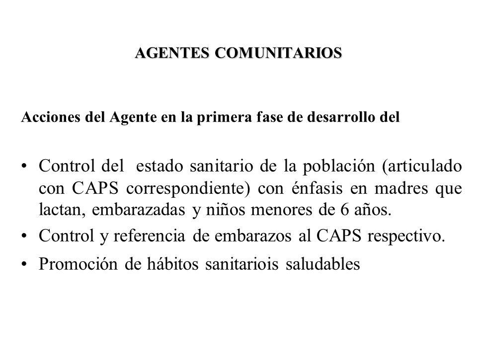 Control y referencia de embarazos al CAPS respectivo.