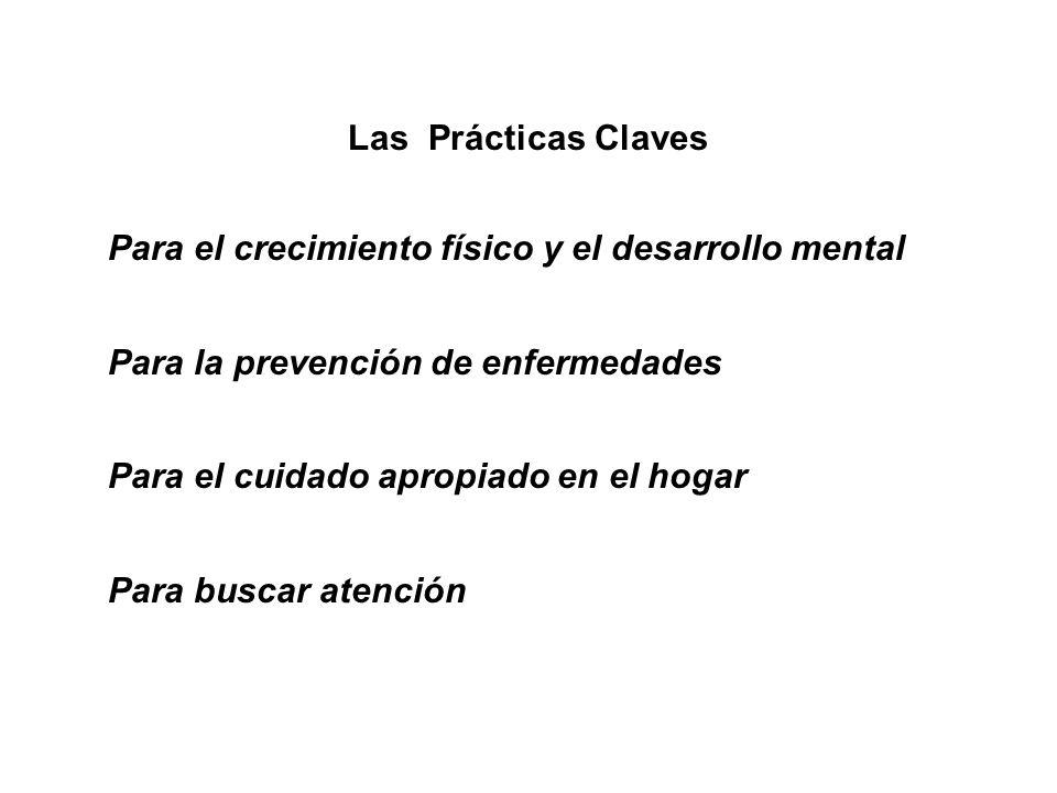 Las Prácticas ClavesPara el crecimiento físico y el desarrollo mental. Para la prevención de enfermedades.
