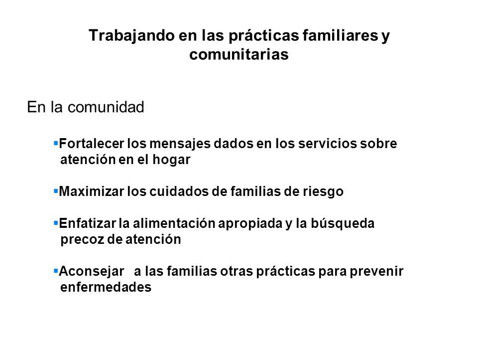 Trabajando en las prácticas familiares y comunitarias
