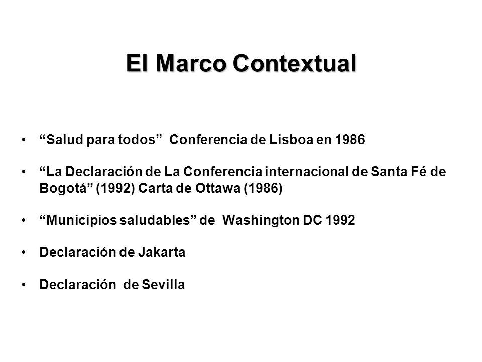 El Marco Contextual Salud para todos Conferencia de Lisboa en 1986