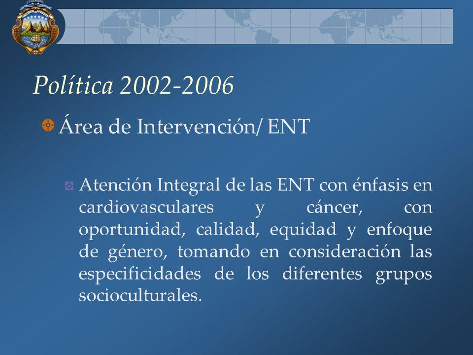 Política 2002-2006 Área de Intervención/ ENT