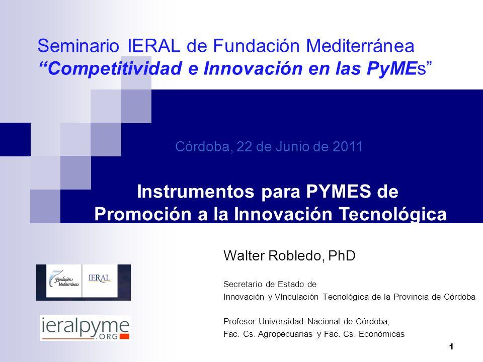 Instrumentos para PYMES de Promoción a la Innovación Tecnológica