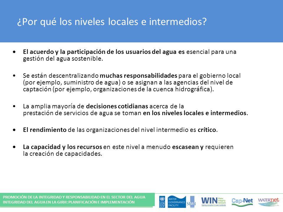 ¿Por qué los niveles locales e intermedios