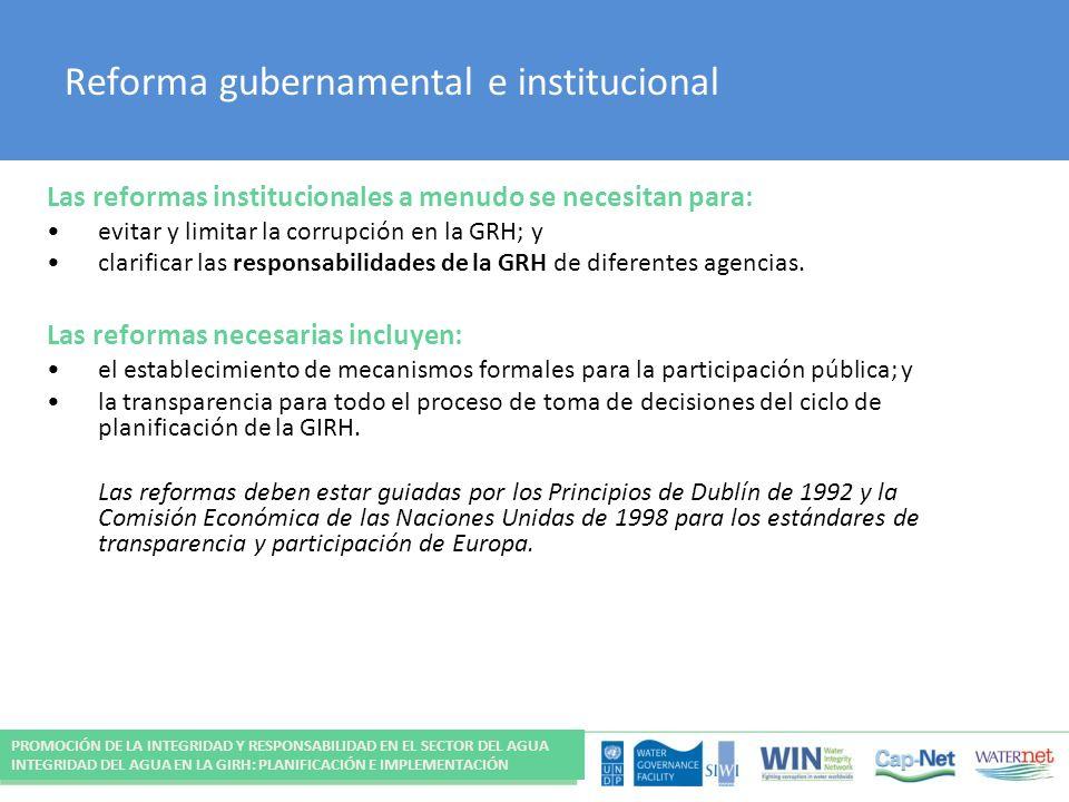 Reforma gubernamental e institucional