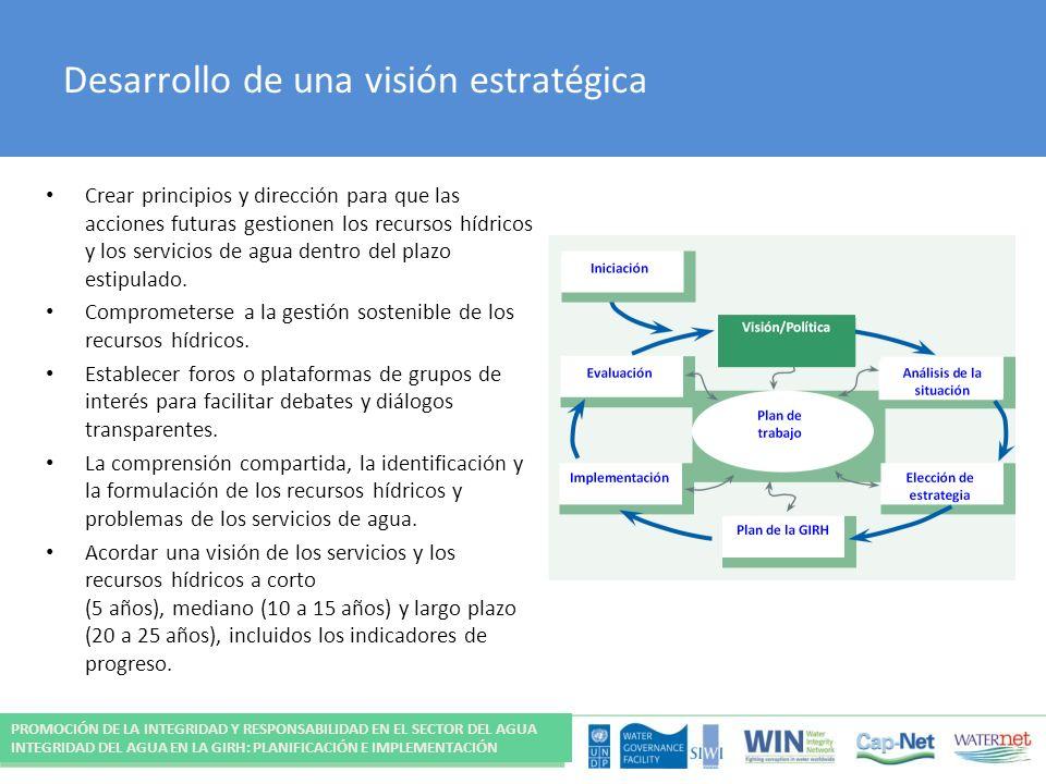Desarrollo de una visión estratégica