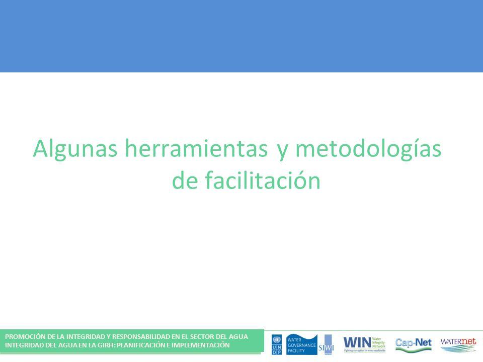 Algunas herramientas y metodologías de facilitación