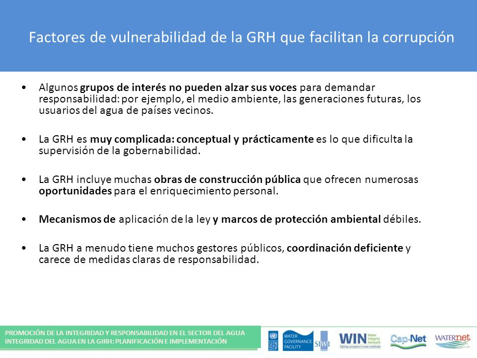 Factores de vulnerabilidad de la GRH que facilitan la corrupción