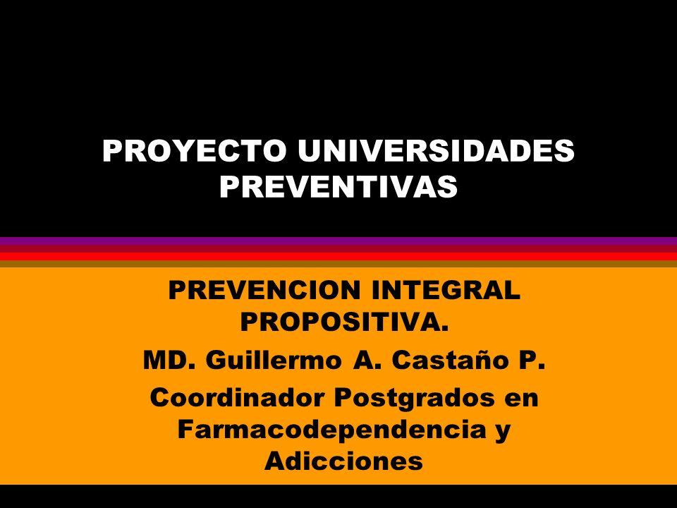 PROYECTO UNIVERSIDADES PREVENTIVAS