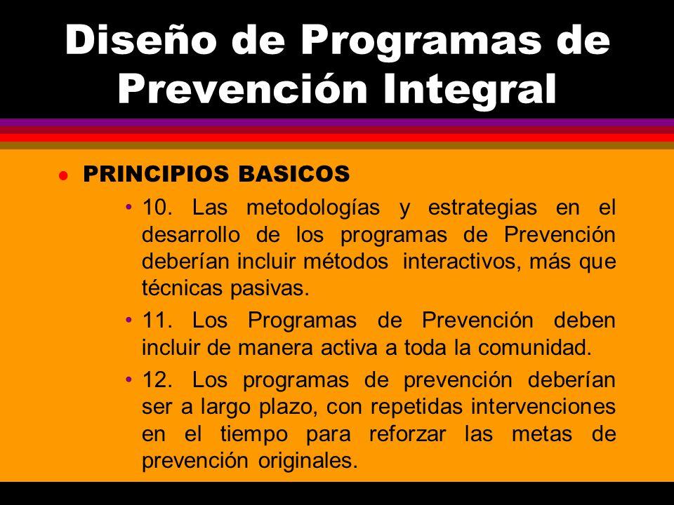 Diseño de Programas de Prevención Integral