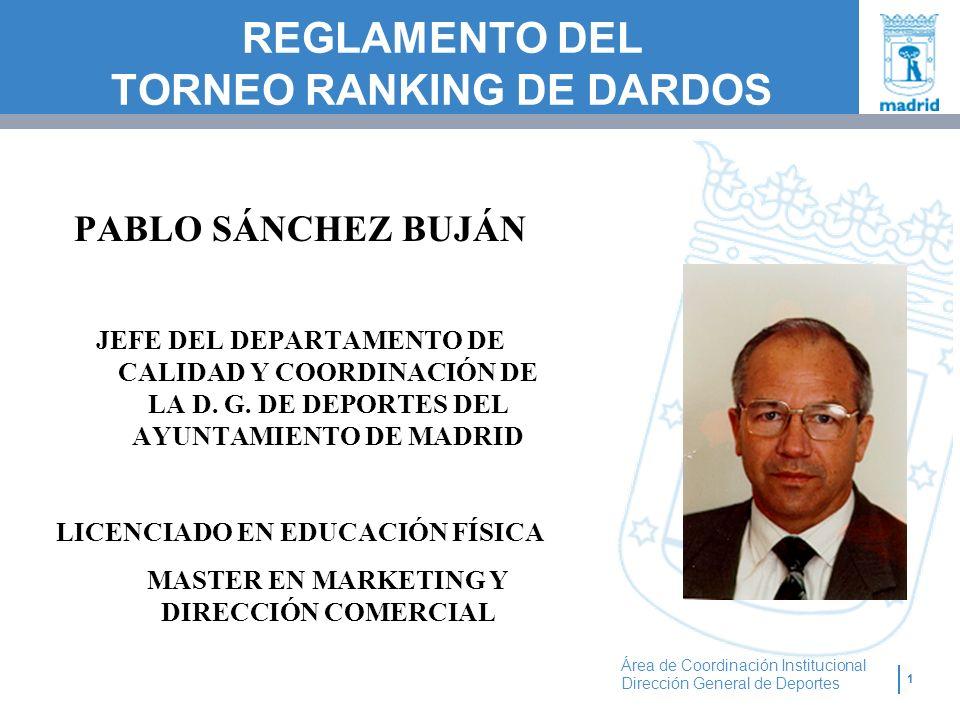 REGLAMENTO DEL TORNEO RANKING DE DARDOS