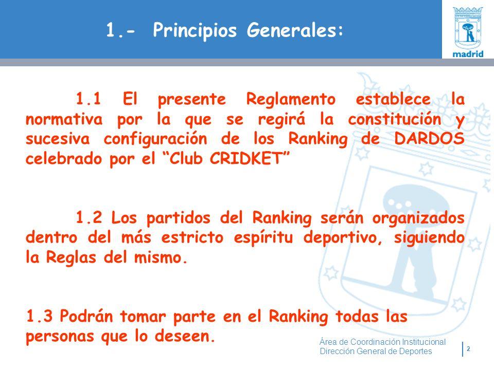 1.- Principios Generales: