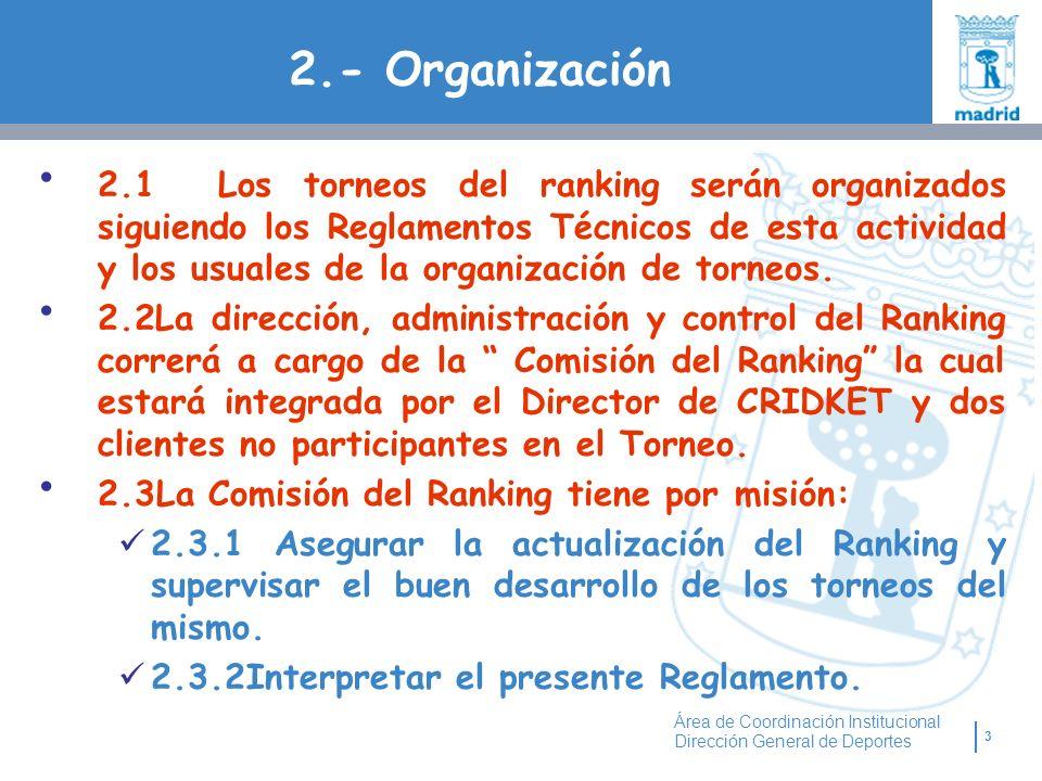 2.- Organización