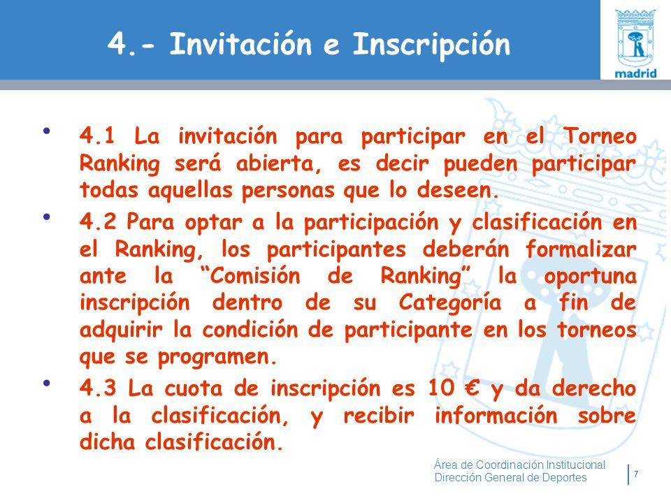 4.- Invitación e Inscripción