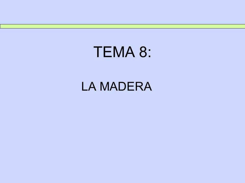TEMA 8: LA MADERA