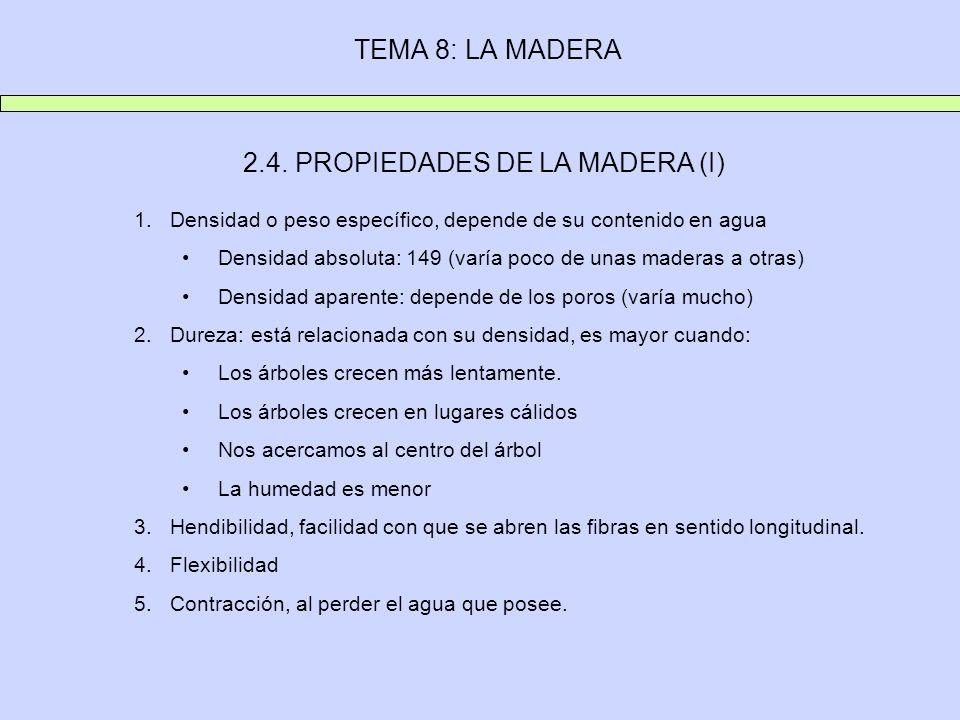 2.4. PROPIEDADES DE LA MADERA (I)