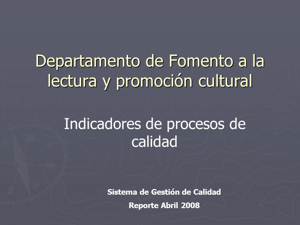 Departamento de Fomento a la lectura y promoción cultural