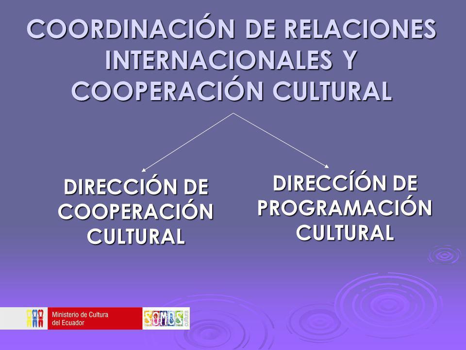 COORDINACIÓN DE RELACIONES INTERNACIONALES Y COOPERACIÓN CULTURAL
