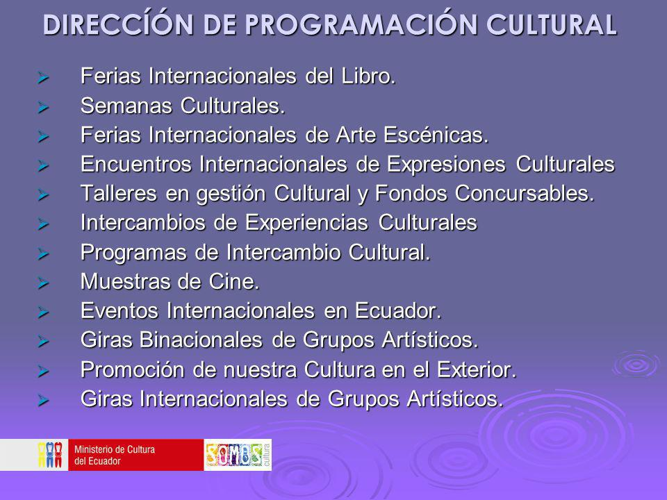 DIRECCÍÓN DE PROGRAMACIÓN CULTURAL