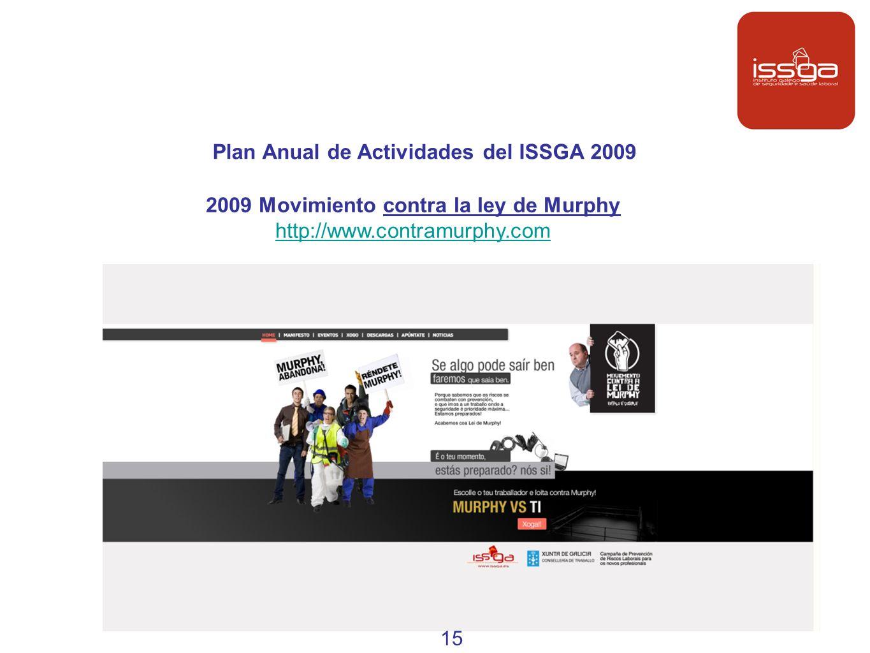 Plan Anual de Actividades del ISSGA 2009