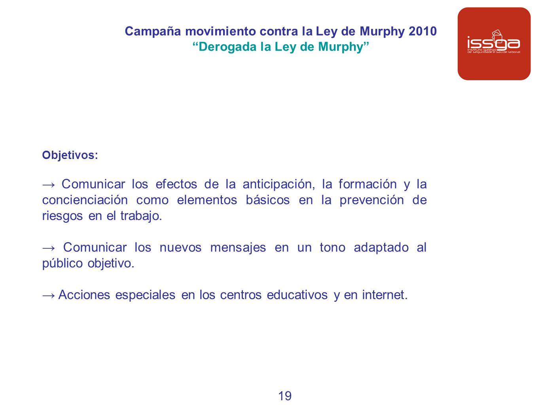 → Acciones especiales en los centros educativos y en internet.