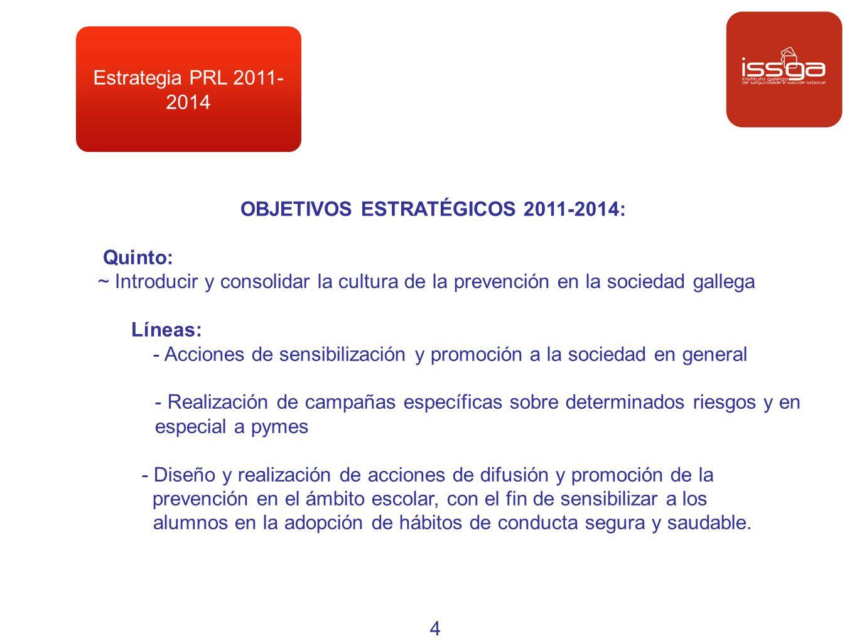 OBJETIVOS ESTRATÉGICOS 2011-2014: