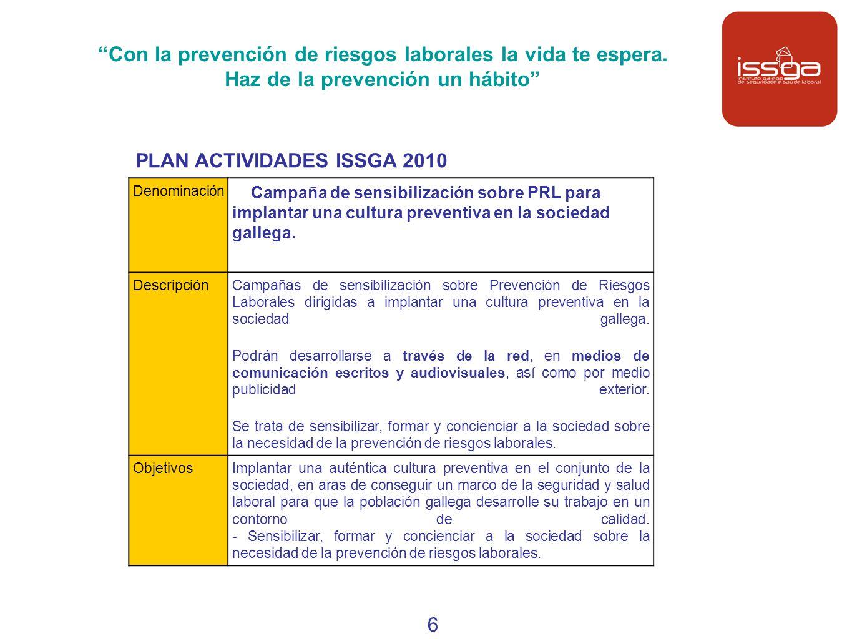 PLAN ACTIVIDADES ISSGA 2010