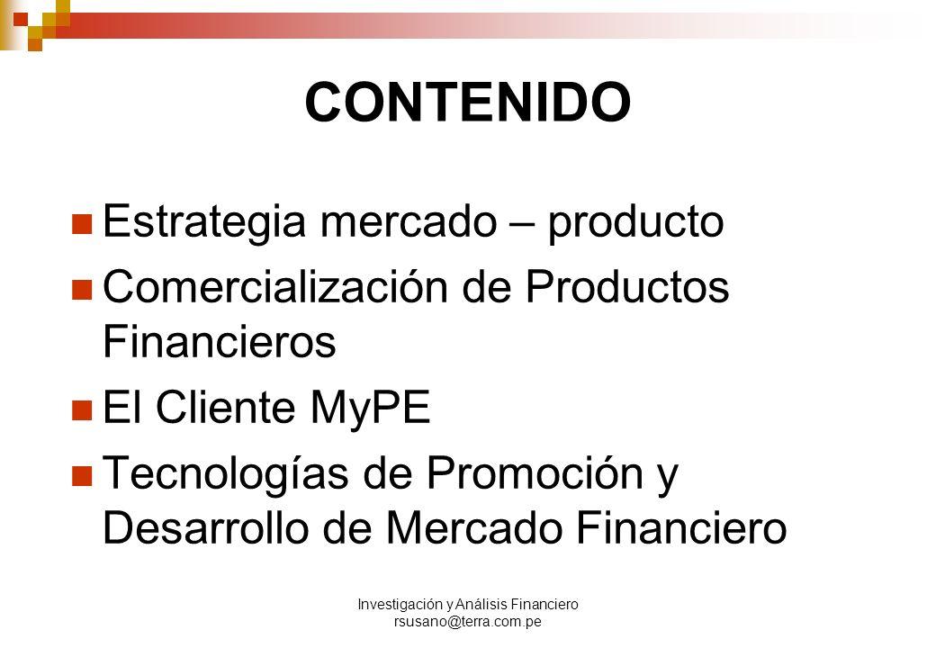 Investigación y Análisis Financiero rsusano@terra.com.pe