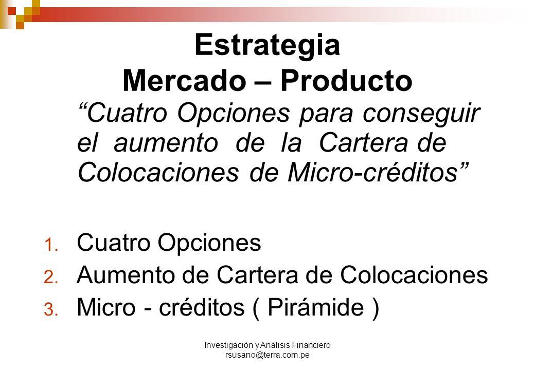Estrategia Mercado – Producto