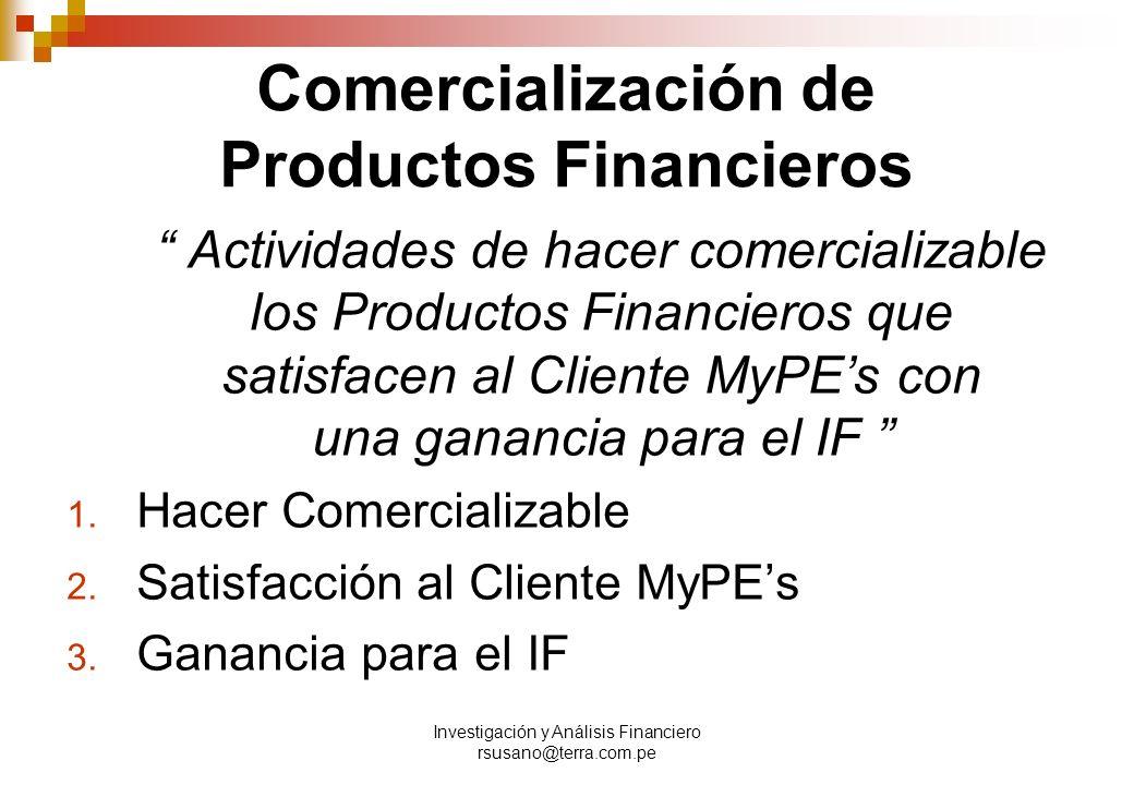 Comercialización de Productos Financieros
