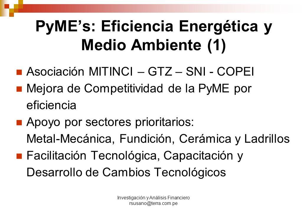 PyME's: Eficiencia Energética y Medio Ambiente (1)