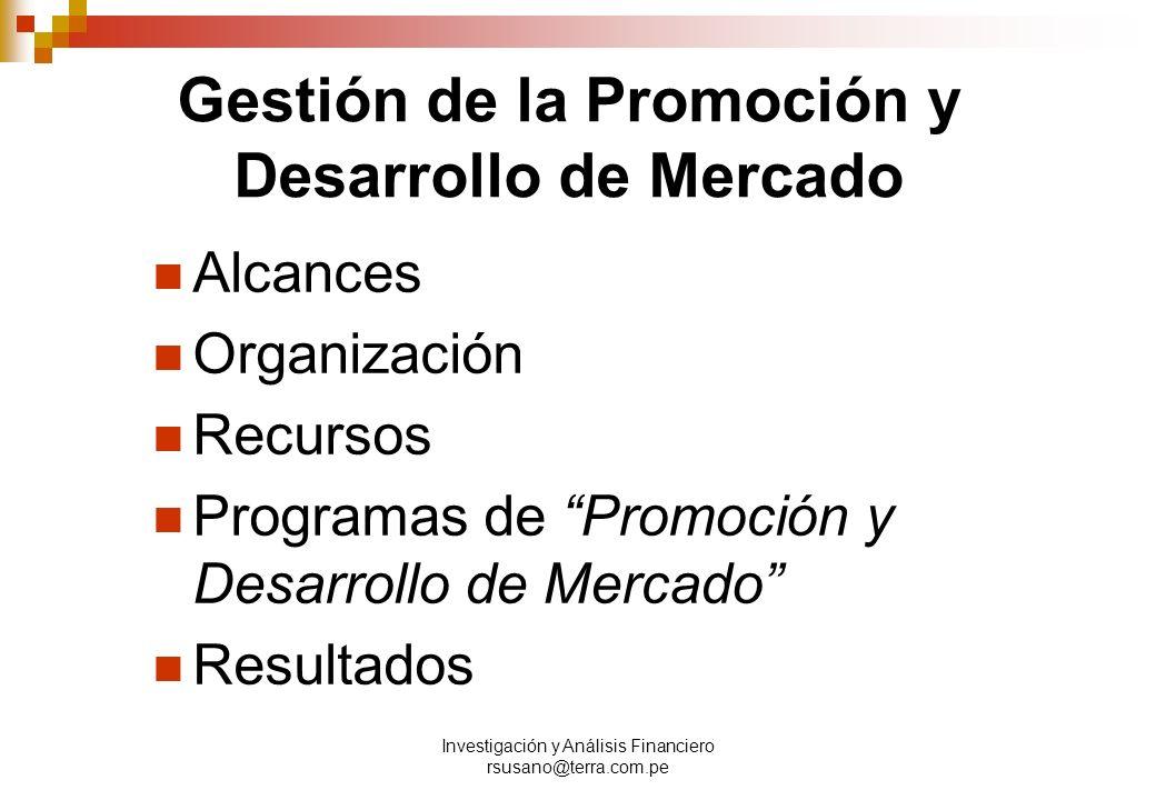Gestión de la Promoción y Desarrollo de Mercado