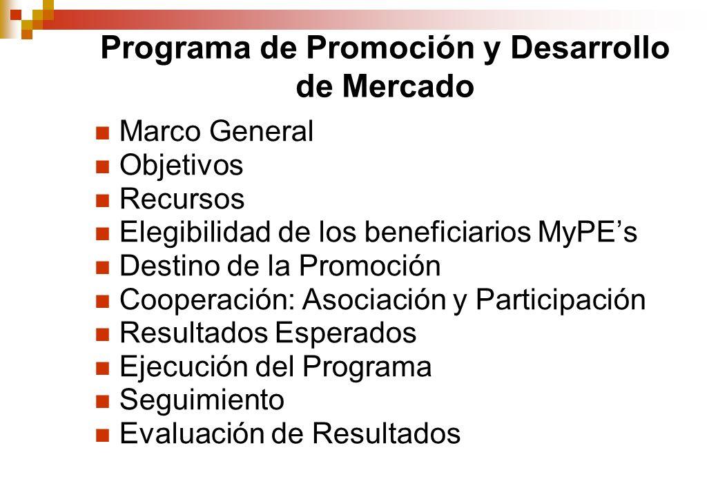 Programa de Promoción y Desarrollo de Mercado