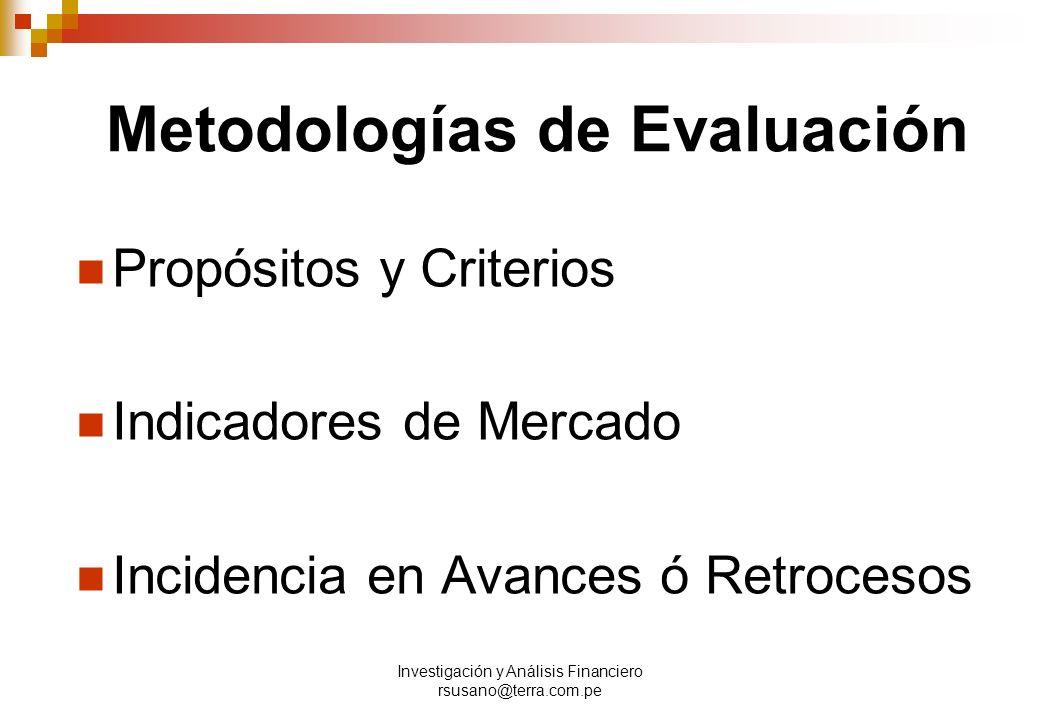 Metodologías de Evaluación