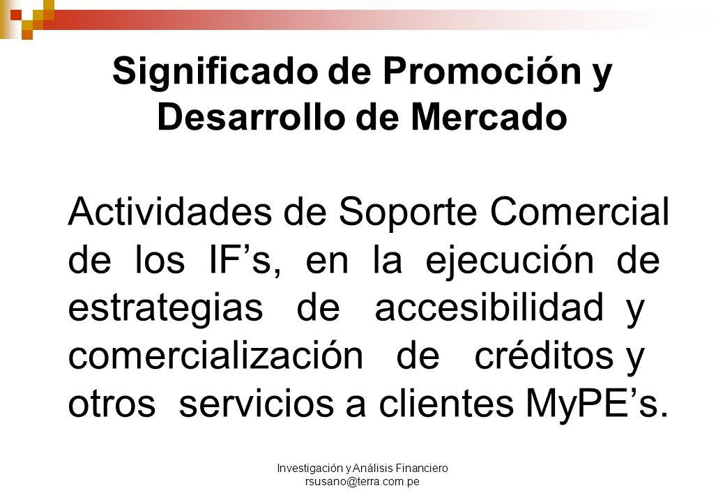 Significado de Promoción y Desarrollo de Mercado