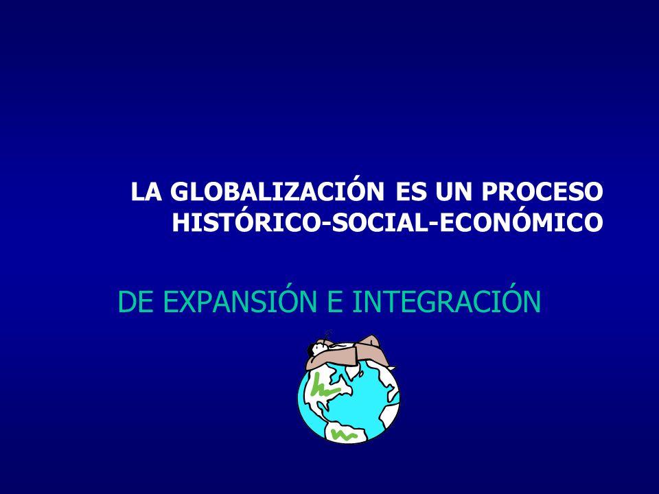 LA GLOBALIZACIÓN ES UN PROCESO HISTÓRICO-SOCIAL-ECONÓMICO