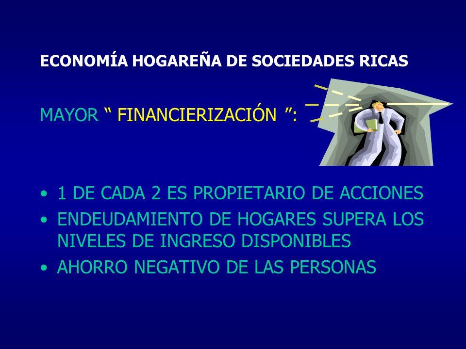 ECONOMÍA HOGAREÑA DE SOCIEDADES RICAS