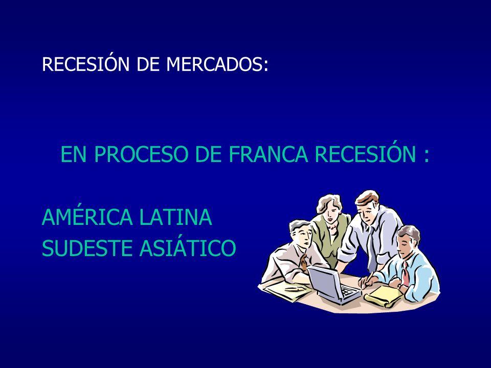 EN PROCESO DE FRANCA RECESIÓN :