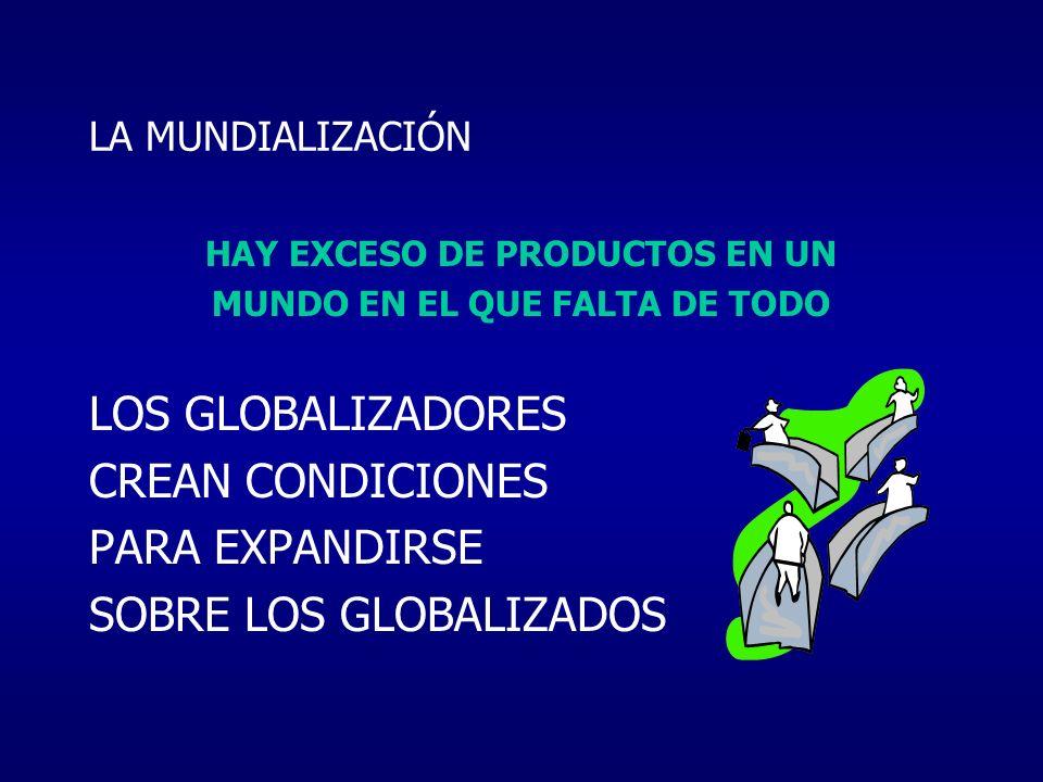 HAY EXCESO DE PRODUCTOS EN UN MUNDO EN EL QUE FALTA DE TODO