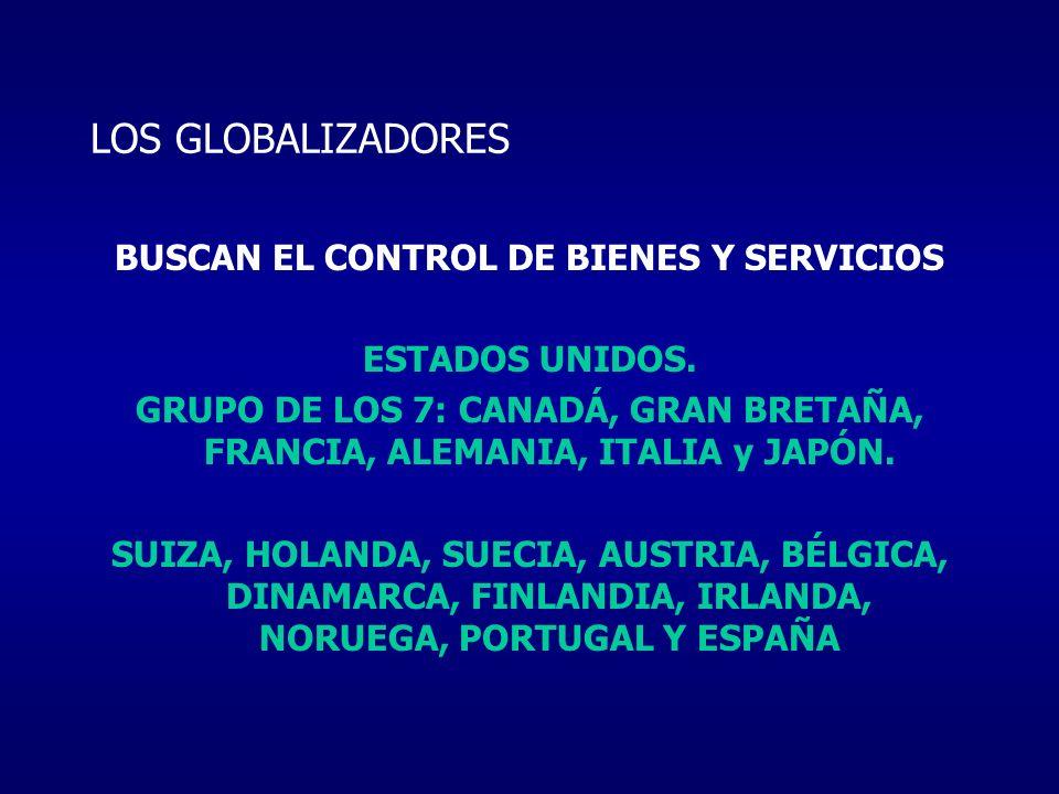 BUSCAN EL CONTROL DE BIENES Y SERVICIOS