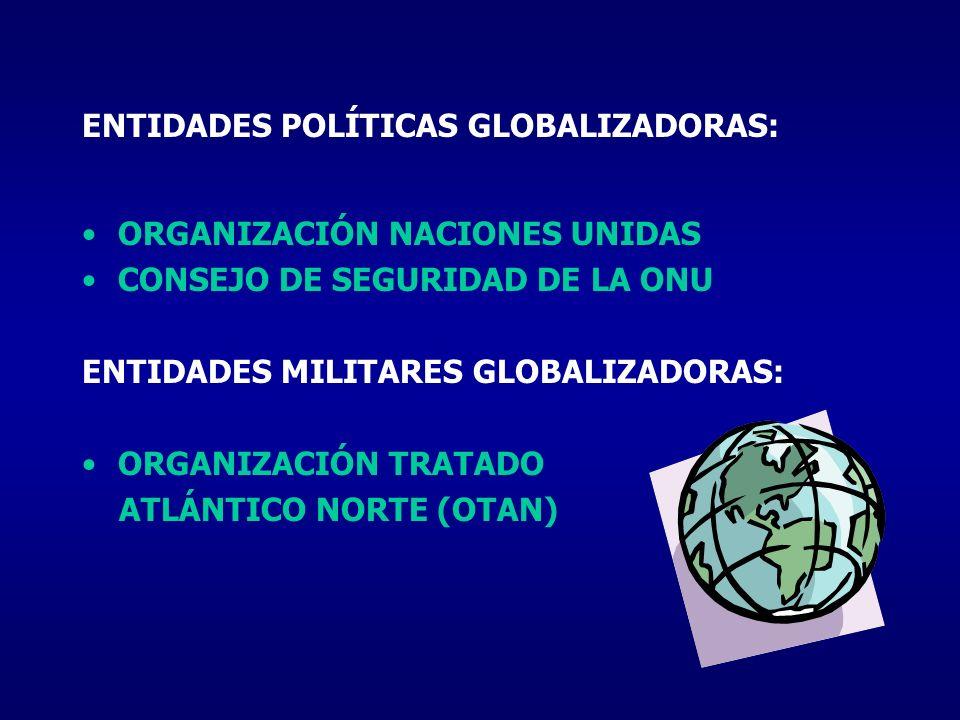 ENTIDADES POLÍTICAS GLOBALIZADORAS:
