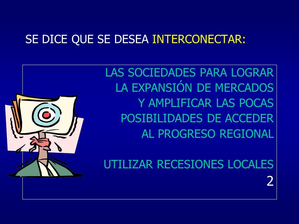 SE DICE QUE SE DESEA INTERCONECTAR: