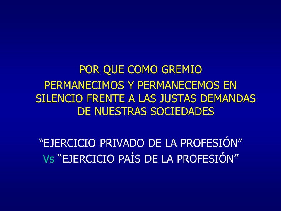 EJERCICIO PRIVADO DE LA PROFESIÓN