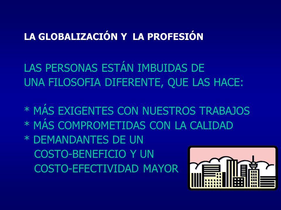 LA GLOBALIZACIÓN Y LA PROFESIÓN