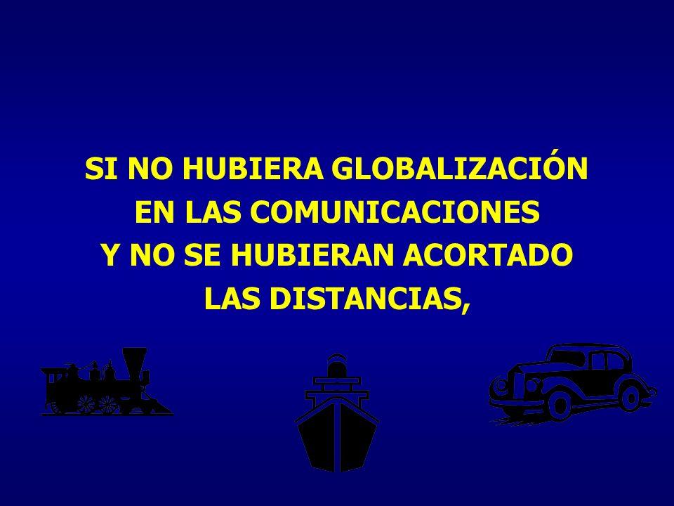SI NO HUBIERA GLOBALIZACIÓN Y NO SE HUBIERAN ACORTADO