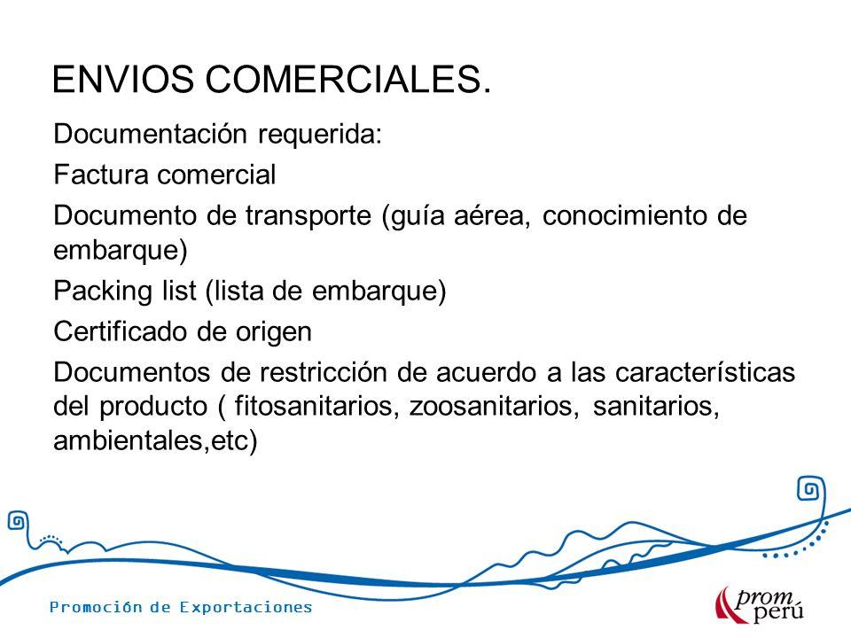 ENVIOS COMERCIALES.