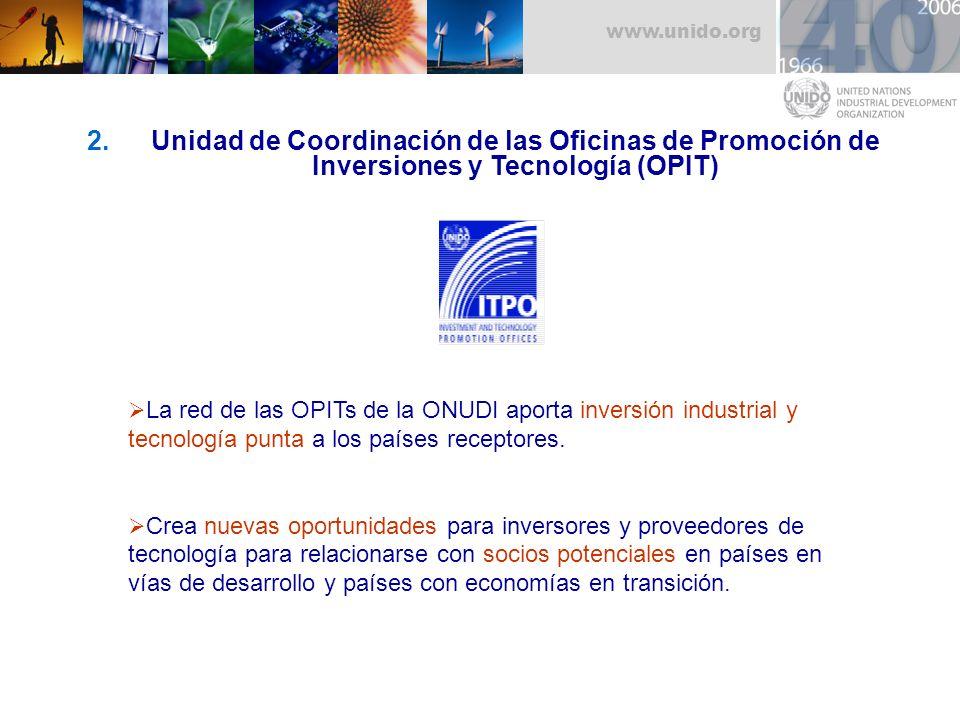 Unidad de Coordinación de las Oficinas de Promoción de Inversiones y Tecnología (OPIT)